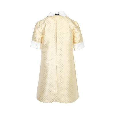 dot pattern collar a-line dress